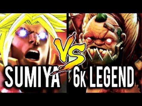 SumiYa [Invoker] vs 6k MMR Legendary Pudge ► GANK ME MORE PLZ ! Dota 2 7.06