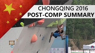 Chonqing Bouldering World Cup 2016 | Post-Comp Summary by OnBouldering