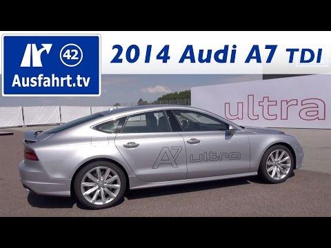 2014 Audi A7 3.0 TDI ultra – Fahrbericht der Probefahrt / Test / Review