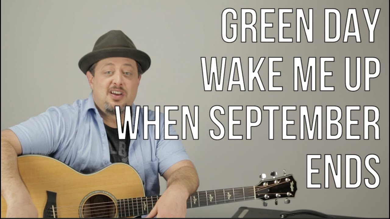 Green Day – Wake Me Up When September Ends – Guitar Lesson – How to Play – Acoustic Songs