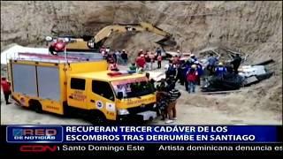 Recuperan tercer cadáver de los escombros tras derrumbe en Santiago