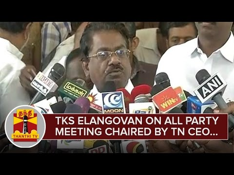 T-K-S-Elangovan-on-All-Party-Meeting-Chaired-by-Rajesh-Lakhoni--Thanthi-TV