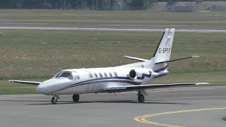 London Executive AviationGraz Airport09.07.2017Landing Graz Airport  GRZ  LOWGRunway 35C, 3000m x 45m AsphaltCessna 550 Citation IIG-SPURLatest pictures and news also available on➤ http://www.facebook.com/aviationvideosgraz➤ http://www.twitter.com/aviation_graz➤ http://aviationvideosgraz.jimdo.com/equipment📷 Panasonic HC-V777EG-K, Velbon Videomate 638 tripod, 💿 Magix Video Deluxe 2016✈ Spotting position: observation deckfor all spotting places visit http://aviationvideosgraz.jimdo.com/graz-airport/spotting-places/Recorded in Full HD  1920x1080 50fps#Cessna*****Welcome to my YouTube channel AVIATION VIDEOS which is focused on planespotting around the world. Minimum of 4 daily uploads:1 video from my home airport Graz, Austria1 video from an international airport like Vienna, Zurich or Amsterdam1 video from an national airport like Graz or Vienna1 video of General & Business AviationFrom time to time there will be some specials like trip reports, full flight videos or tutorials.Feel free to subscribe, comment or like! If you have any questions send me an email📧 aviationvideos@gmx.at