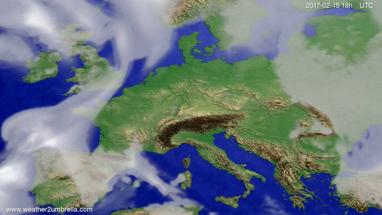 Cloud forecast Europe 2017-02-12