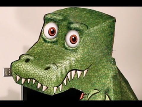 Amazing TRex Illusion is somehow moving its head to follow