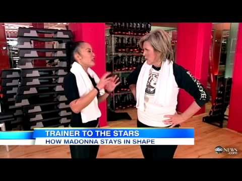Madonna's Personal Trainer Reveals Stars Workout Video (видео)