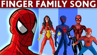 DADDY FINGER SONG SPIDERMAN Nursery Rhymes for Children Babies and Toddlers