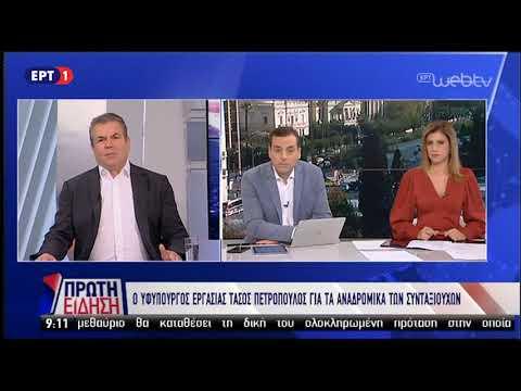 Τ.Πετρόπουλος:Δεν θα δοθούν σε όλους τα αναδρομικά-Αφορά υποθέσεις που έκρινε το ΣτΕ | 5/11/18 | ΕΡΤ
