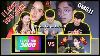 [KOREA REAKSI] I Love You 3000 (Stephanie Poetri & Reza Darmawangsa)   Original & Cover   Reaction