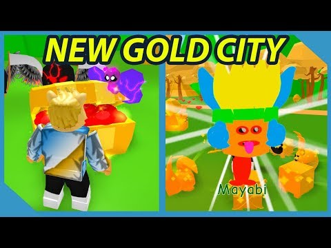 New Gold City World in Roblox Pet Trainer Simulator