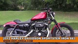 4. Used 2012 Harley Davidson Sportster Iron 883 Motorcycles for sale