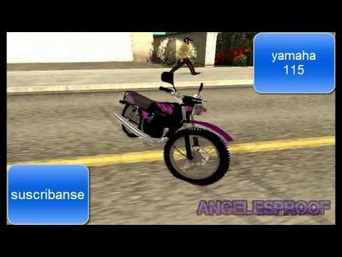 pack de 5  motos venezolanas para el gta san andreas