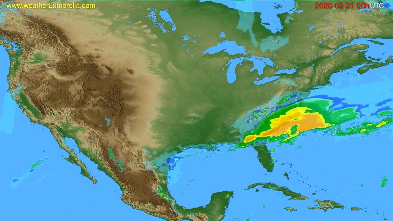 Radar forecast USA & Canada // modelrun: 12h UTC 2020-02-20