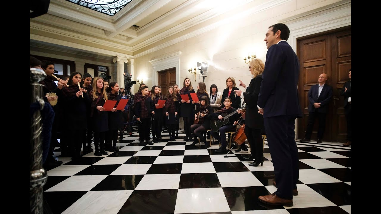 Κάλαντα Χριστουγέννων από την χορωδία του 1ου Γυμνάσιου Παπάγου και την Ένωση Ηπειρωτών Αχαρνών