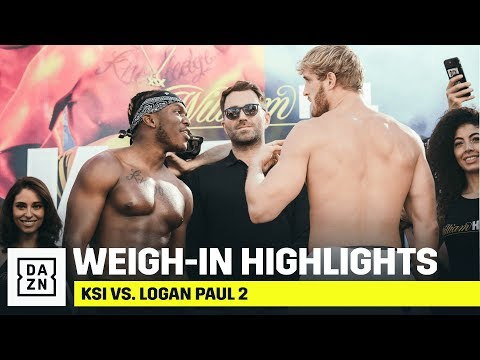 HIGHLIGHTS | KSI vs. Logan Paul 2 Weigh-In