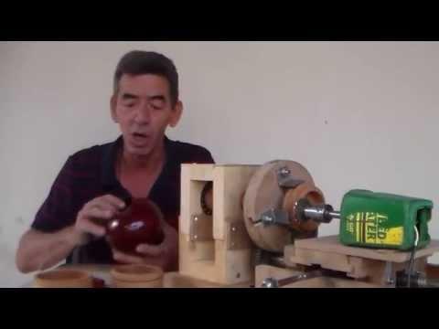 Como fazer roscas em potes de madeiras
