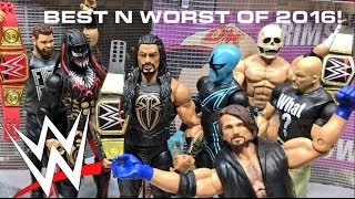 TOP 10 BEST  5 WORST WWE FIGURES OF 2016 COUNTDOWN LISTS!!