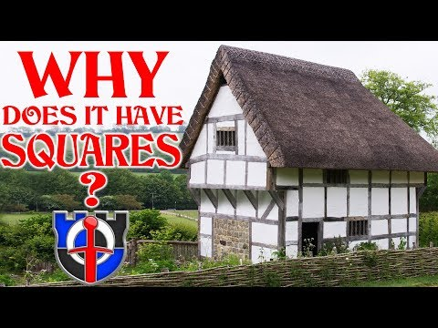 Why are medieval buildings made of squares and rectangles?
