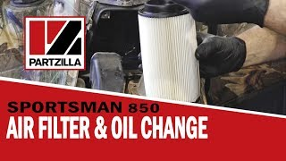 9. Air Filter & Oil Change: Polaris Sportsman 850 | Partzilla.com