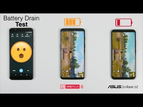 OnePlus 6 Vs Asus Zenfone 5Z Battery Drain Test  | Hard To Believe😧😧