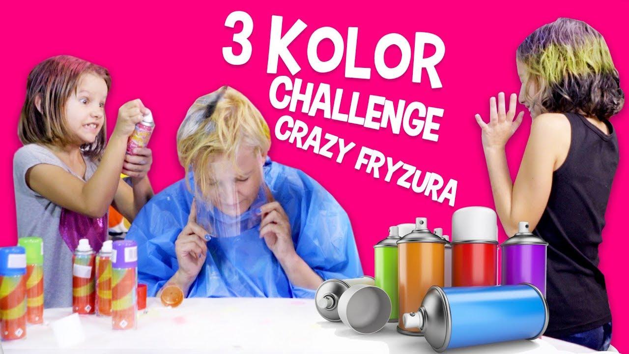 3 kolor Challenge - Crazy Fryzura