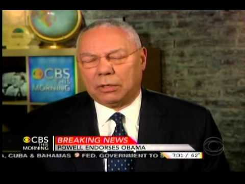 Colin Powell Endorses President Obama