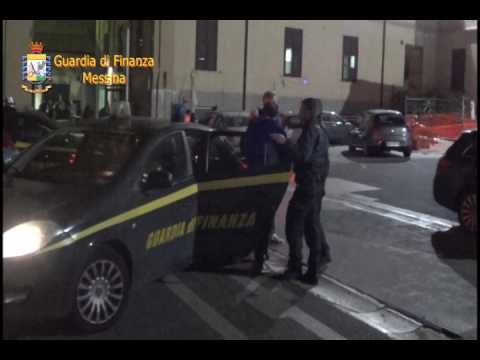 """Messina. Operazione antimafia """"Dominio"""". Guarda il video della guardia di finanza."""