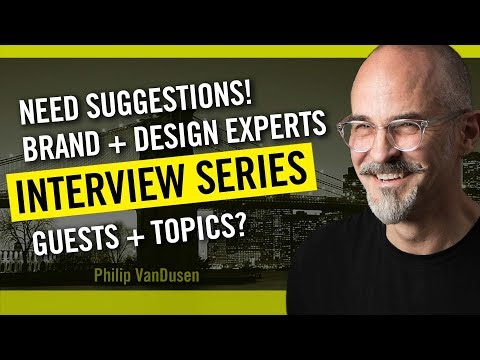 Entrepreneur and Creative Pro Interview Series: Suggest Guests and Questions!