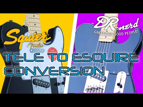 Squier Telecaster to Esquire Conversion How To | Play tests from 10:10 | Tele build | DR-NERD