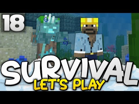 THE UNDERWATER BASE BEGINS! - Survival Let's Play Ep. 18 - Minecraft Bedrock (PE W10 XB1)
