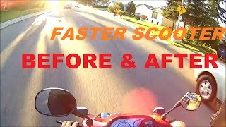 10. FASTER SCOOTER- Before/After Stage 1 Mods (EPISODE 18)