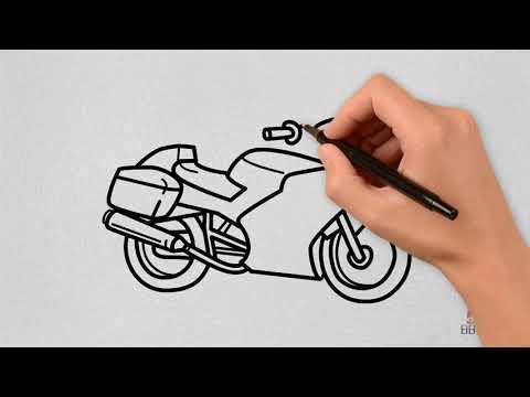 Vẽ xe máy cảnh sát ( Draw police motorbike )