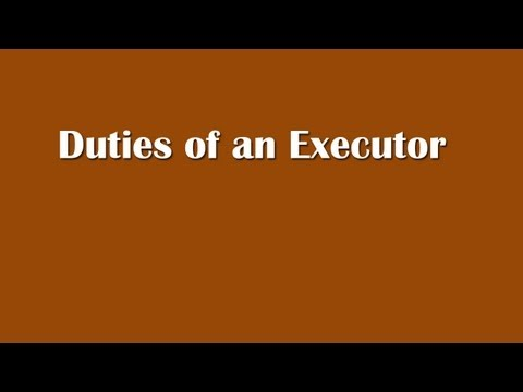 Executor Of Estate