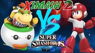XSmash 2 – Tweek (Bowser Jr) vs Zucco (Megaman)