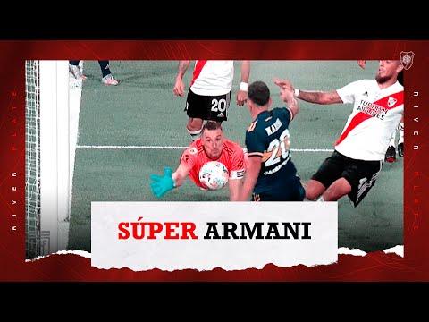 Las atajadas de Armani en el Superclásico