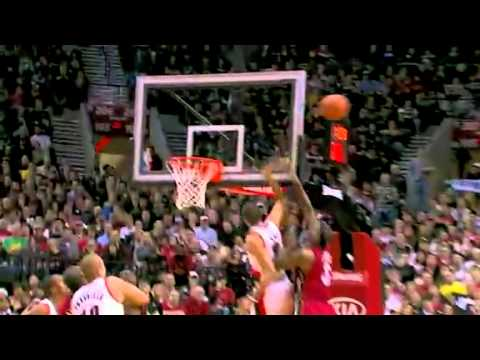 Nicolas Batum blocks LeBron James