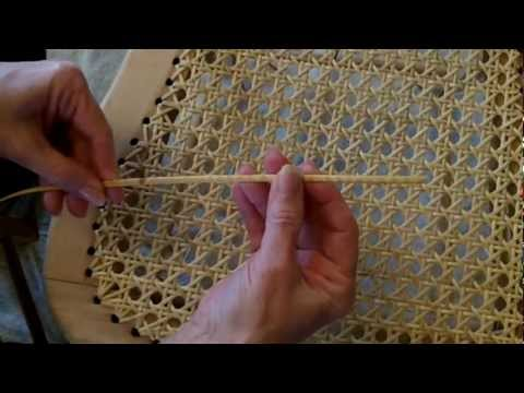 Weaving A Cane Seat Using the 7 Step Method