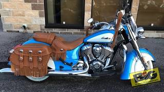 9. 2018 Indian Motorcycle® Chief® Vintage ABS Sky Blue over Pearl White For Sale in St. Charles, MO