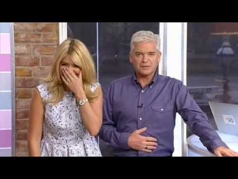 this morning - Holly Willoughby can't speak properly again! Thinking about