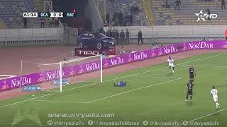 الرجاء الرياضي1-0 المغرب التطواني هدف بين مالانغو في الدقيقة 62.