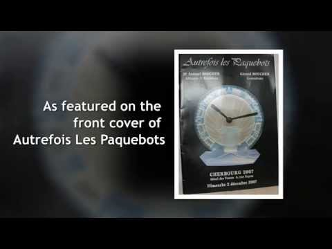 Ato Rene Lalique Glass Clock