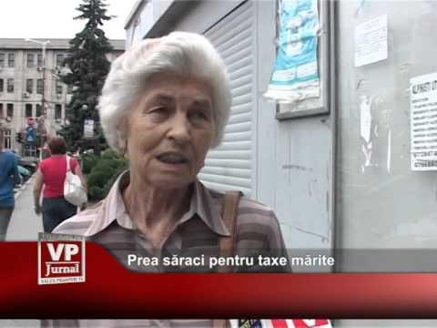 Prea saraci pentru taxe marite