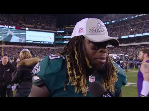 Jay Ajayi's 2017 NFC Championship Post Game Interview: (видео)