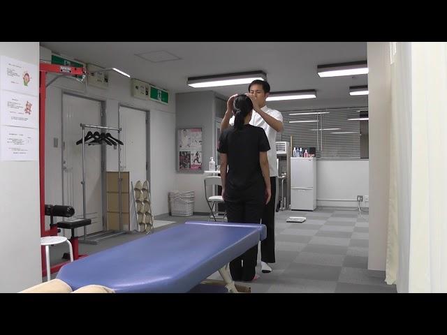 【施術動画】顎関節症 痛みのもどりには 座位・立位で側頭骨を調整する