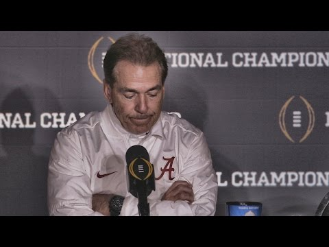 Hear what Nick Saban said after Alabama's last-second loss to Clemson (видео)