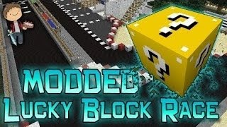 Minecraft: Lucky Block Race 4! Modded Mini-Game w/Mitch&Friends!