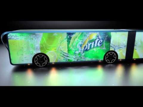 Revoluce v hromadné dopravě: Autobus pokrytý LCD panely