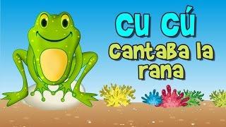 Cu cú cantaba la rana es una canción infantil con divertidos dibujos animados para niños, que puedes disfrutar junto a tus hijos.