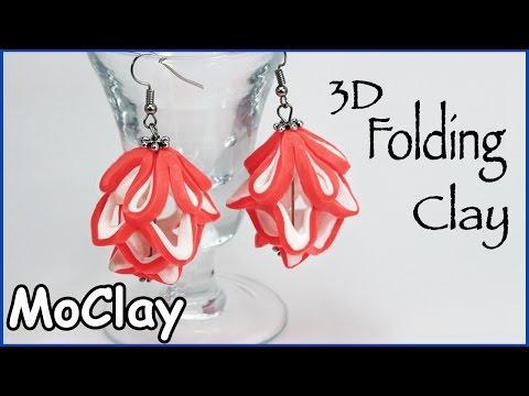 fimo - orecchini 3d con struttura morbida