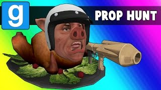 Gmod Prop Hunt Funny Moments - MC Wildcat! (Garry's Mod)
